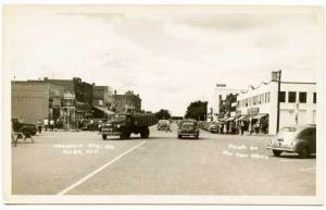 Colby KS Street Vue Old Cars Truck RPPC Real Photo Postcard
