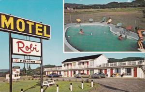 LES MECHINS, Cte. Matane, QUEBEC,Canada, 50-60s; Motel-Hotel Robi, swimming pool