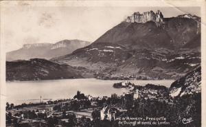 RP; LAC D´ANNECY,  Haute Savoie, France; Presqu´ile de Duingt et dents de L...
