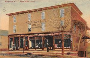 E3/ Hurleyville New York NY Postcard 1909 Post Office Store W.D. Labagh