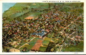 West Virginia Moundsville Aeroplane View Curteich