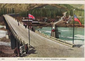 SIKANNI CHIEF RIVER BRIDGE, ALASK HIGHWAY, Canada, 40s-60s