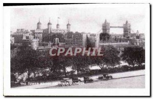Modern Postcard The tower bridge and tower of London
