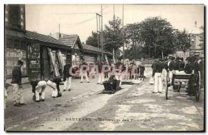 Old Postcard Firemen Firemen Nanterre Maneuver