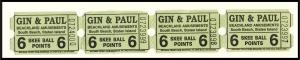4 Beachland Amusements Skee Ball Tickets, South Beach, Staten Island,New York/NY