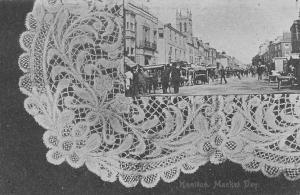 England Honiton Market Day, Animated, R. & M. Tucker, Souvenir