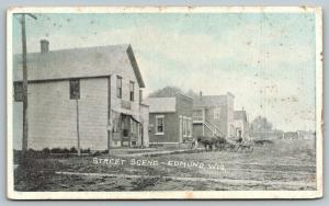 Edmund Wisconsin~Main Street~General Store~Horse Wagons~Rutted DIrt Road~c1910