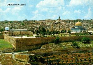 Israel Jerualem Seen From Mount Of Olives