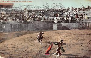 Bull Fight Tarjeta Postal Bullfighting Tijuana, Mexico 1907 Missing Stamp