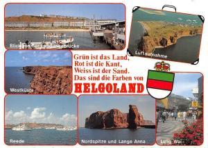 Helgoland, Reede Nordspitze und Lange Anna Lung Wai Landungsbruecke Schiff