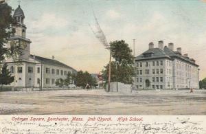 DORCHESTER, Massachusetts, PU-1906; Codman Square, 2nd Church & High School