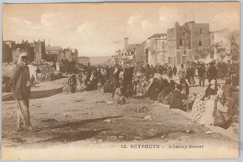 LEBANON - Vintage Postcard - BEYROUTH : Allenby street