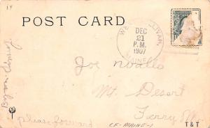 Bear Post Card Old Vintage Antique No 1.  at Home 1907