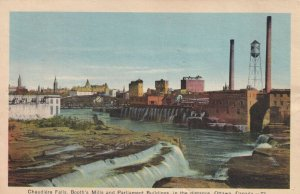 OTTAWA, Ontario, Canada, PU-1940; Chaudiere Falls, Booth's Mills And Parliament