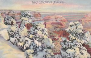 Arizona Grand Canyon In The Winter 1944 Curteich