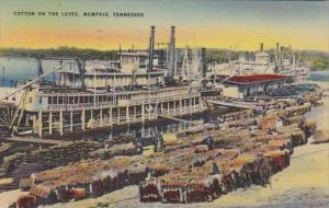 Tennessee Memphis Cotton On The Levee 1944