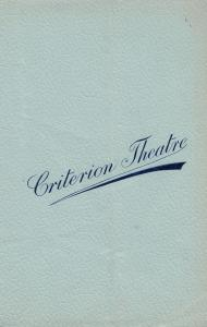 A Clean Slate RC Carton Brandon Thomas Comedy Criterion London Theatre Programme