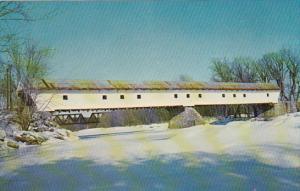 Smith Covered Bridge Over Saco River White Mountains New Hamshire