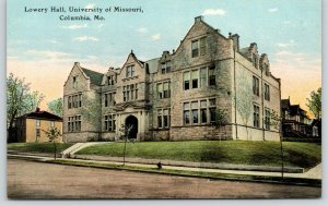 Columbia MO~University of Missouri Bible College Campus~Lowry Hall~1910 Postcard