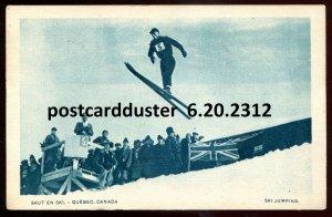 2312 - QUEBEC Postcard 1920s Ski Jumping. Winter Sport by Garneau