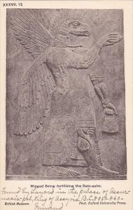 Palace of Assur wall panel , Iraq , 00-10s : Winged Being fertilizing the Dat...