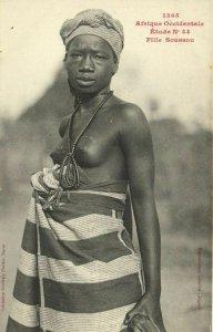 CPA AK Senegal Ethnic Nude Fortier - 1365. Étude N 44 Fille Soussou (70960)