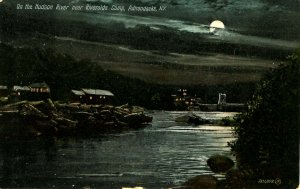 NY - Adirondacks, Riverside Camp on the Hudson River