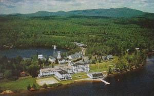 New York Lake Placid Aerial View Of Saranac Inn