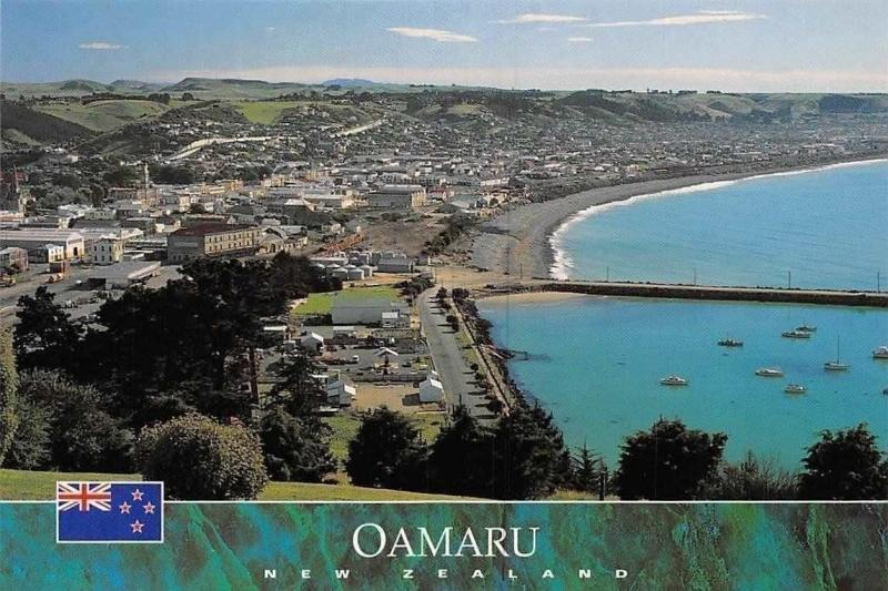 New Zealand Oamaru from Cape Wanbrow Lookout, North Otago Panorama