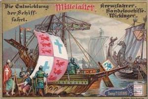 Liebig S453 Evolution Of Ships No 3 Kreuzfahrer Handelsschiffe Wickinger