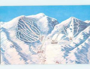 Unused Pre-1980 SKIING ON MOUNT MANSFIELD Stowe Vermont VT ho8402
