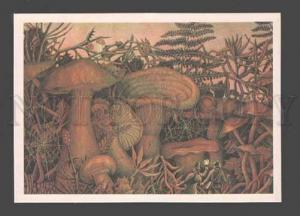 090122 FANTASY of Verne - Huge MUSHROOMS by LUBAROV old Russia