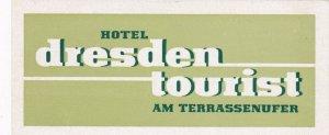 Germany Dresden Hotel Tourist Vintage Luggage Label sk3046