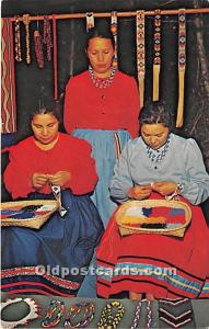 Cherokee Beadworkers, Oconaluftee Indian Village Cherokee, North Carolina, NC...