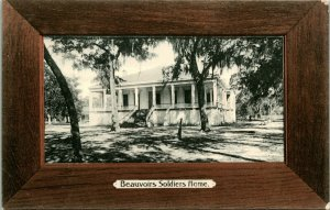 Vtg Postcard c 1908 Biloxi Mississippi Beauvoirs Soldiers Home - Rotograph Co