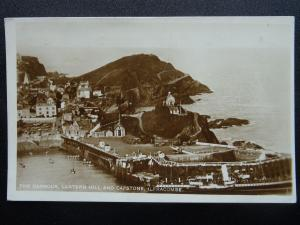 Devon ILFRACOMBE Harbour, Capstone & Lantern Hill c1920's RP Postcard