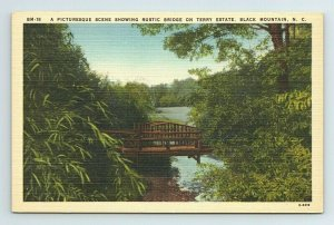 Rustic Bridge Terry Estate Black Mountain North Carolina NC Postcard