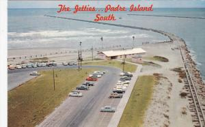 PORT ISABEL, Texas, 1950-1960's; Aerial View Of The Southern Tip Of Padre Isl...