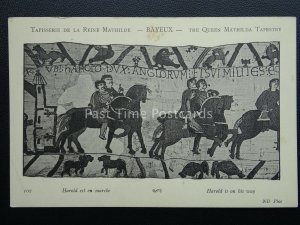 Bayeux Tapestry HAROLD IS ON HIS WAY Old French Postcard by ND Phot 102