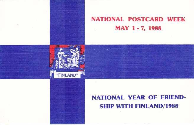 National Postcard Week 1988 - National Year of Friendship with Finland - Linen