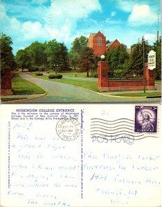 Muskingum College Entrance, New Concord, Ohio