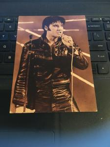 Vintage Postcard - ELVIS , In Leather Suit #1