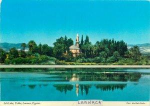 Cyprus Postcard Larnaca Salt Lake Tekke