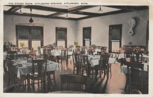 ATTLEBORO , Massachusetts ,1910s , Dining Room , Attleboro Springs
