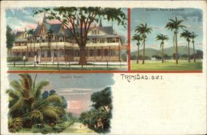 Trinidad BWI British West Indies c1900 Multi View Postcard