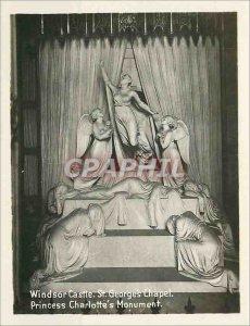 Postcard Old Windsor Castle St Georges Chapel Princess Charlotte's Monument
