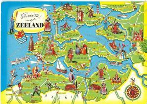Netherlands, Groeten uit Zeeland, 1970s used Postcard