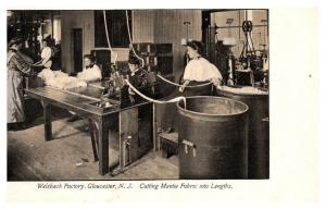 New Jersey  Gloucester ,Welsbach Factory, Cutting mantle Fabric into Lengths