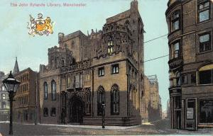 The John Rylands Library, Manchester, England, early postcard, Unused