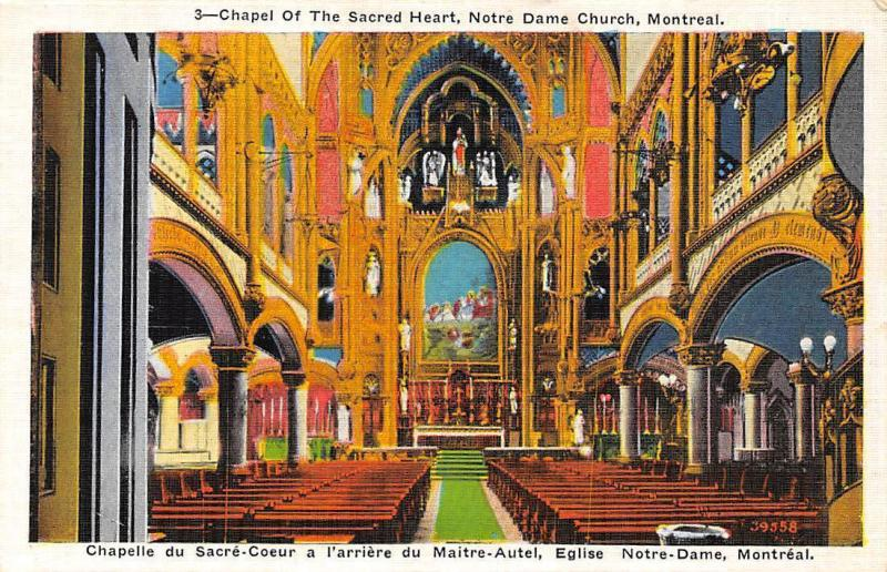 Carte Du Canada Montreal.Canada Montreal Notre Dame Church Chapel Of The Sacred Heart